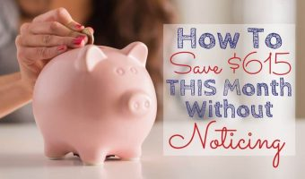 Woman putting money in a piggy bank for extra money savings