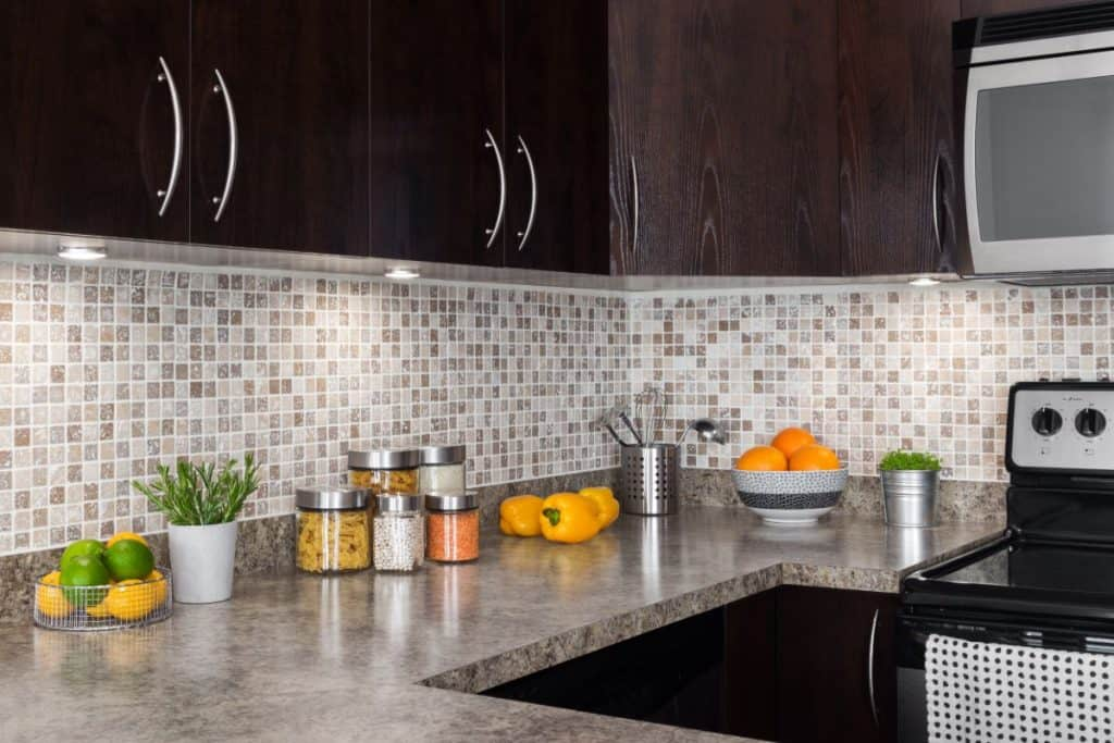 bright and clean kitchen with organized countertops