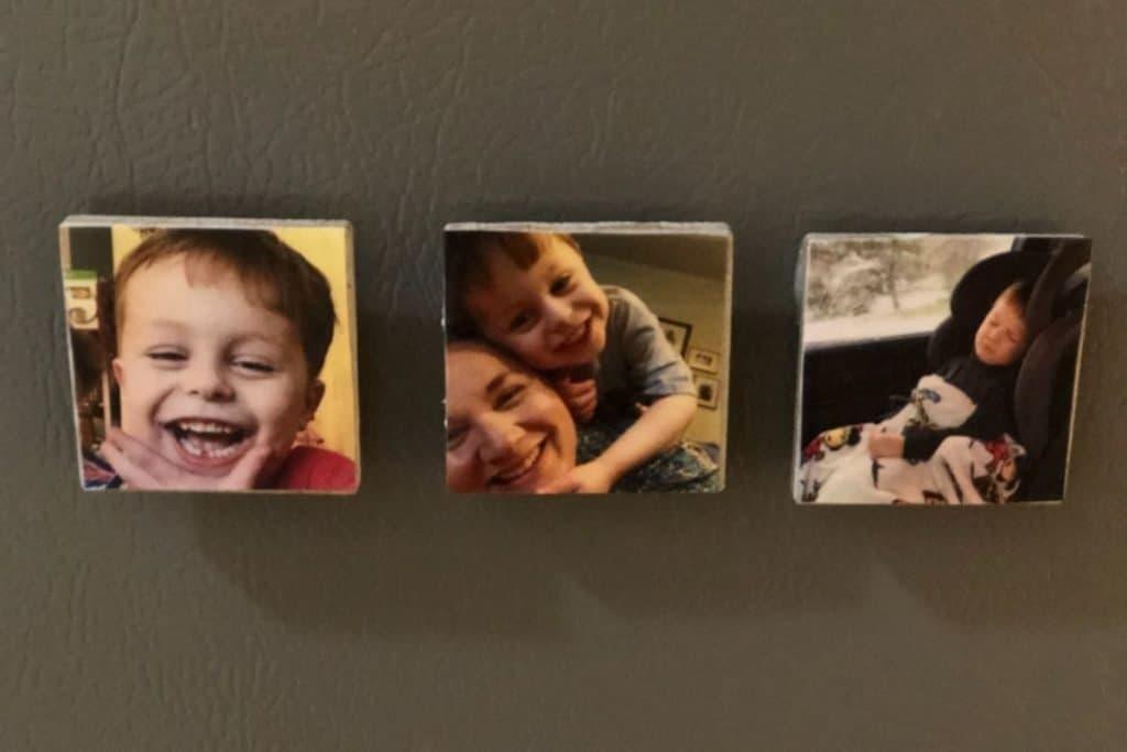 Finished photo magnet tile crafts