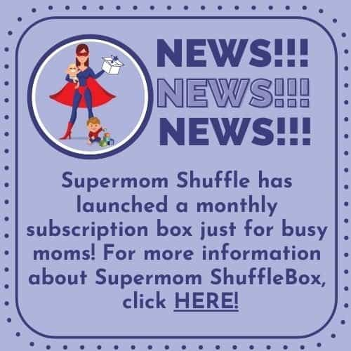 News block announcing Supermom ShuffleBox