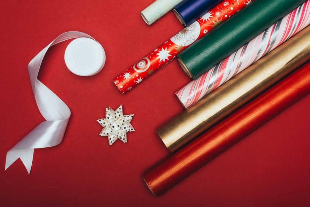 Christmas wrap and bows