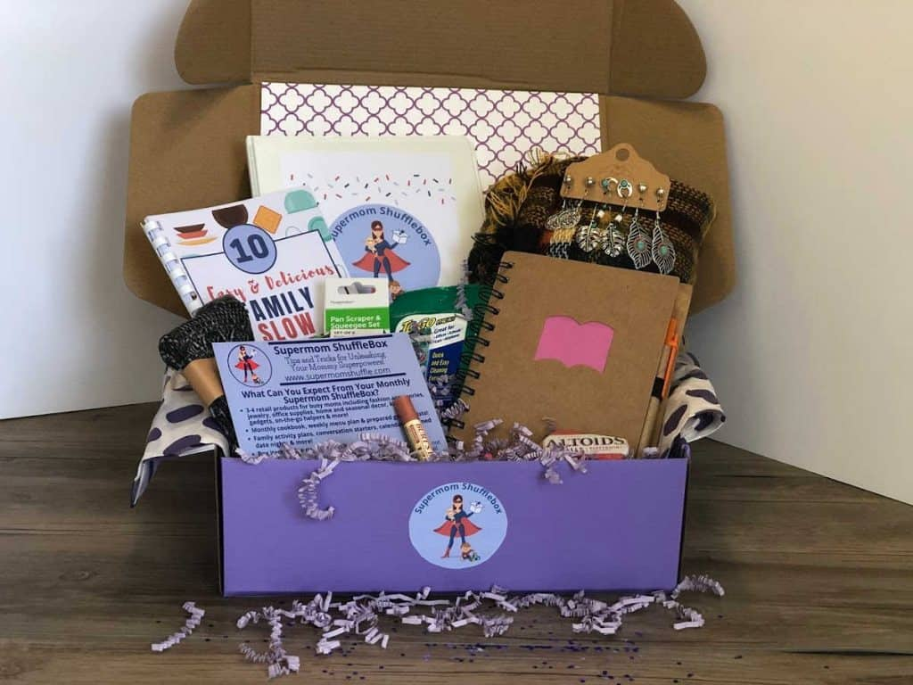 Supermom ShuffleBox Subscription Box contents