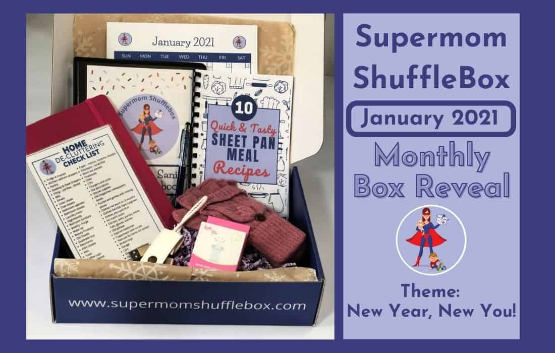 Supermom ShuffleBox January Box Reveal Box Picture Featured Image
