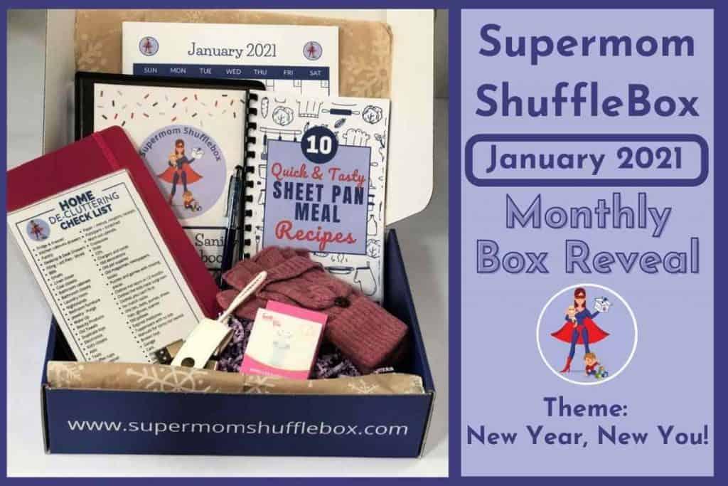 Supermom ShuffleBox January Box Reveal Box Picture