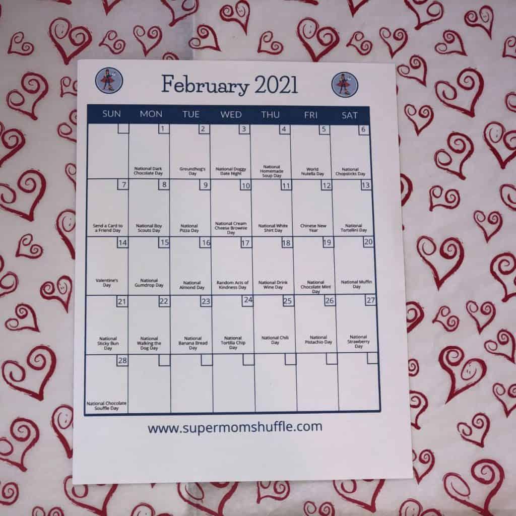 Supermom ShuffleBox box contents monthly calendar