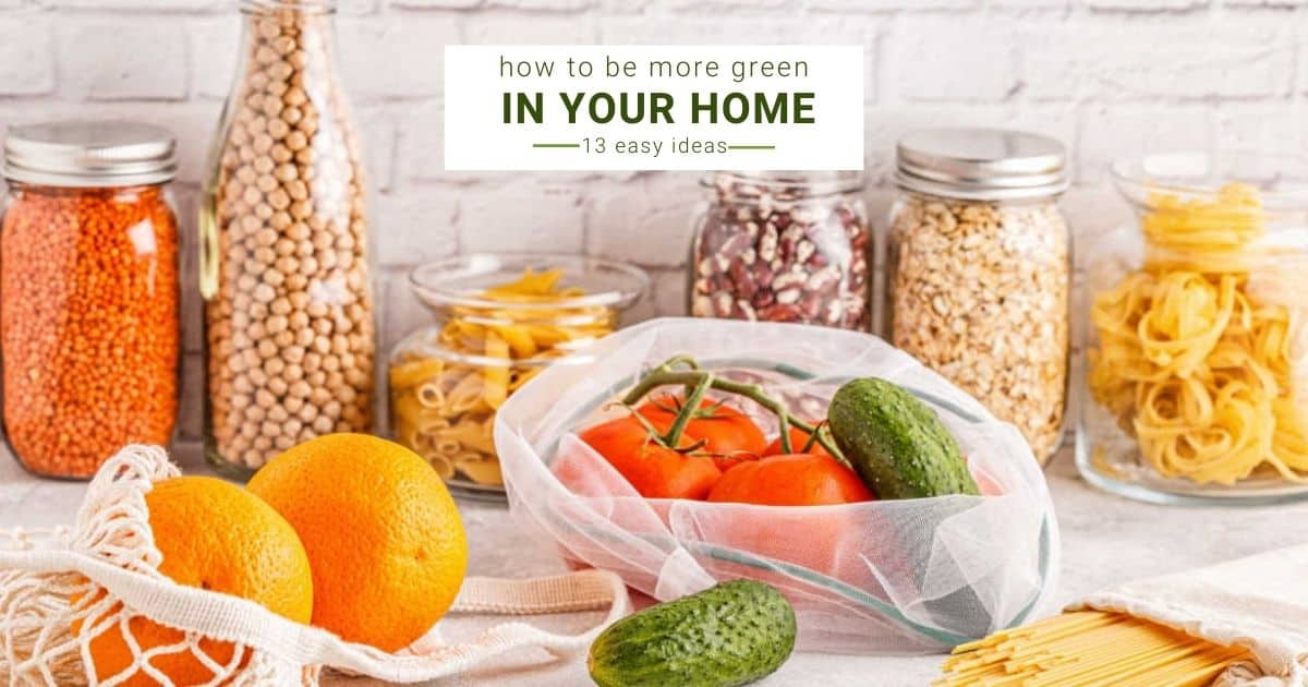 food in reuseable bags and jars on a countertop