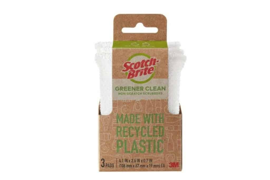 bundle of 3 scotch brite cleaning sponges in brown wrapper
