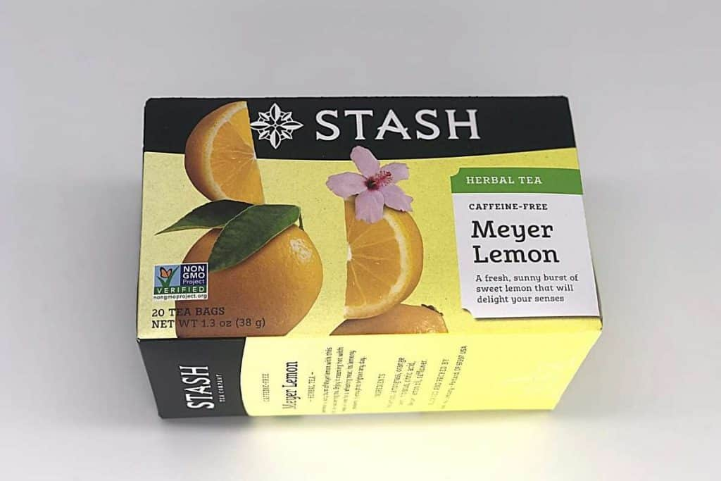 box of lemon herbal tea
