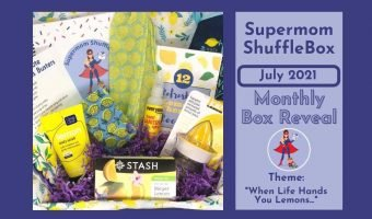 July Supermom ShuffleBox array of contents